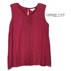 Coldwater Creek Love At First Lace Shell Tank Top